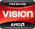 Logo AMD Vision Fusión de primera calidad