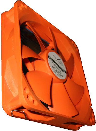 Nexus RealSilent 120 Orange Fan Logo